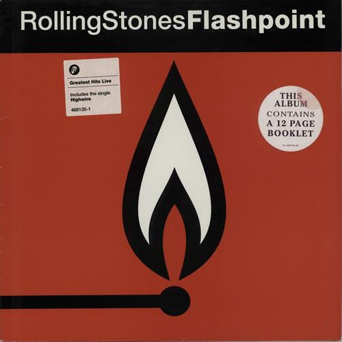 Rolling Stones Flashpoint Cover Sticker Uk Vinyl Lp