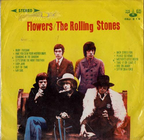 Rolling Stones Flowers Taiwanese Vinyl Lp Album Lp Record