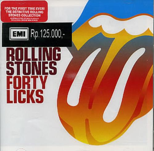Rolling Stones Forty Licks Indonesian 2 CD album set (Double