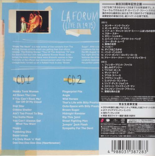 Rolling Stones From The Vault: L.A. Forum - Live 1975 (Bob Clearmountain Mix) SHM CD Japanese ROLHMFR752836