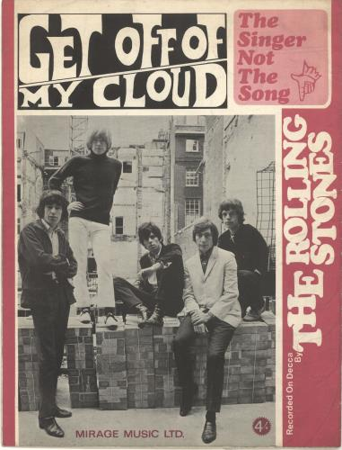 Rolling Stones Get Off Of My Cloud / The Singer Not The Song sheet music UK ROLSMGE374498