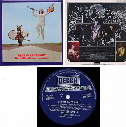 Rolling Stones Get Yer Ya-Ya's Out! - 1st vinyl LP album (LP record) UK ROLLPGE41639