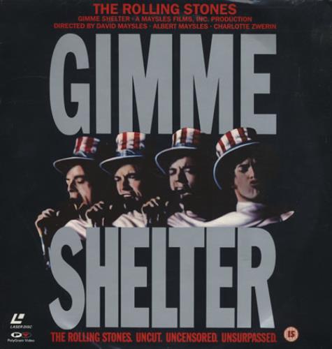 Rolling Stones Gimme Shelter laserdisc / lazerdisc German ROLLZGI65583