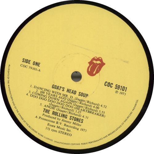 Rolling Stones Goats Head Soup - 1st + Inserts vinyl LP album (LP record) UK ROLLPGO60773