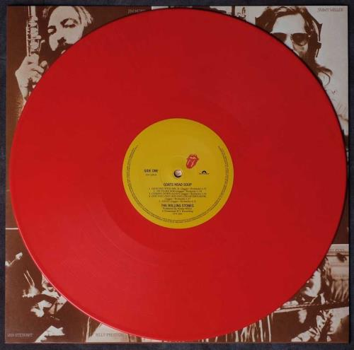 Rolling Stones Goats Head Soup - RS No.9 Carnaby - Red Vinyl vinyl LP album (LP record) UK ROLLPGO752802