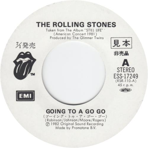 "Rolling Stones Going To A Go Go 7"" vinyl single (7 inch record) Japanese ROL07GO147868"