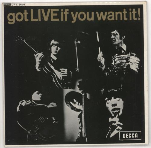 """Rolling Stones Got Live If You Want It EP - 1972 Boxed 7"""" vinyl single (7 inch record) UK ROL07GO724207"""