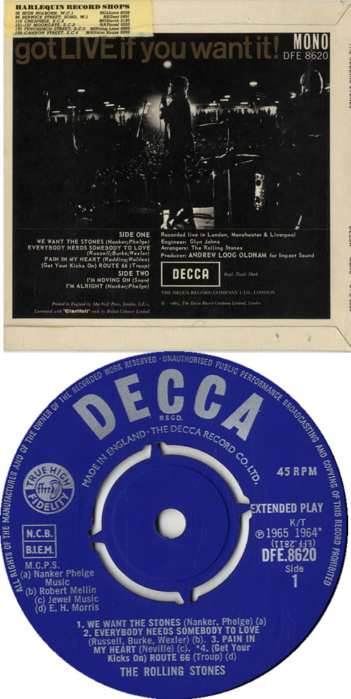 """Rolling Stones Got Live If You Want It EP - 1st 7"""" vinyl single (7 inch record) UK ROL07GO51412"""