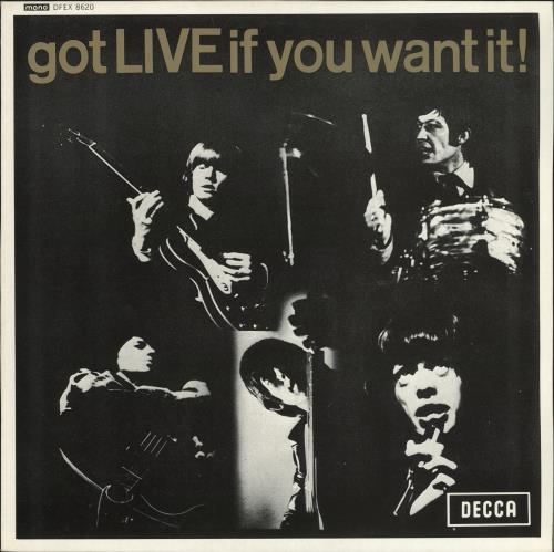 "Rolling Stones Got Live If You Want It EP 12"" vinyl single (12 inch record / Maxi-single) UK ROL12GO50829"