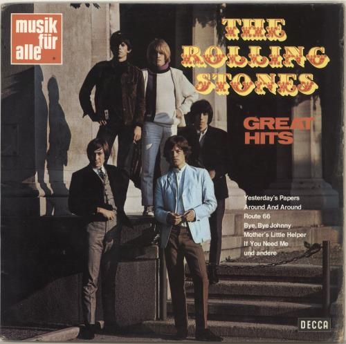 Rolling Stones Great Hits 1st German Vinyl Lp Album Lp
