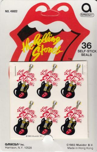 Rolling Stones Guitar Stickers - Box of 1 Dozen memorabilia US ROLMMGU690993