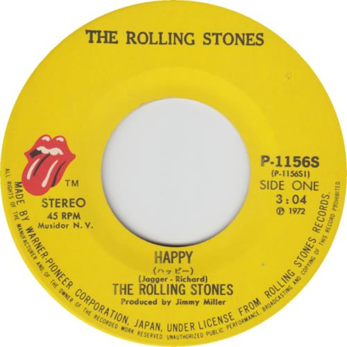 "Rolling Stones Happy 7"" vinyl single (7 inch record) Japanese ROL07HA457991"