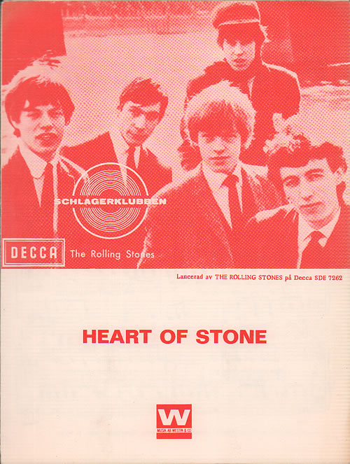 Rolling Stones Heart Of Stone, Let's Spend The Night Together, Ruby Tuesday & I'm Free sheet music Swedish ROLSMHE636472
