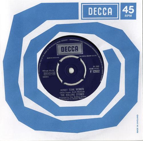 "Rolling Stones Honky Tonk Women - Boxed Label 7"" vinyl single (7 inch record) UK ROL07HO556485"