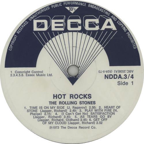 Rolling Stones Hot Rocks 2-LP vinyl record set (Double Album) South African ROL2LHO643643
