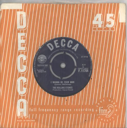 "Rolling Stones I Wanna Be Your Man - 1st - VG 7"" vinyl single (7 inch record) UK ROL07IW565840"