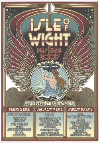 Rolling Stones Isle Of Wight Festival 2007 poster UK ROLPOIS419070