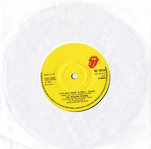 """Rolling Stones It's Only Rock 'N Roll 7"""" vinyl single (7 inch record) UK ROL07IT556385"""