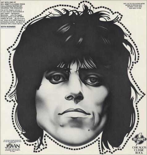 Rolling Stones Keith Richards Halloween Mask Us