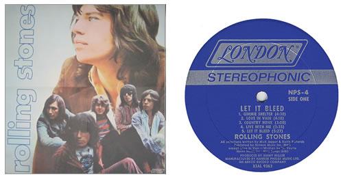 Rolling Stones Let It Bleed Poster Us Vinyl Lp Album Lp