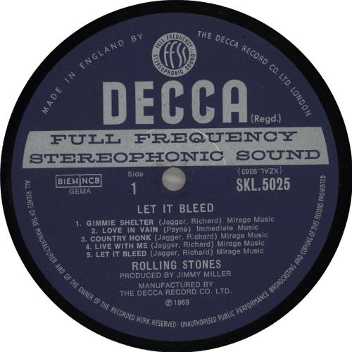 Rolling Stones Let It Bleed - 1st - Stickered + Inner & Poster - VG vinyl LP album (LP record) UK ROLLPLE592397