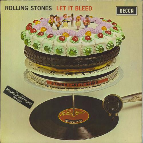 Rolling Stones Let It Bleed - 2nd + Poster - EX vinyl LP album (LP record) UK ROLLPLE582207