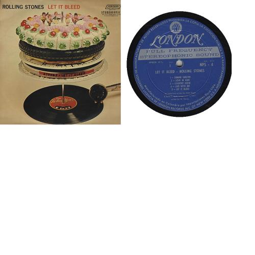 Rolling Stones Let It Bleed vinyl LP album (LP record) Colombian ROLLPLE344745