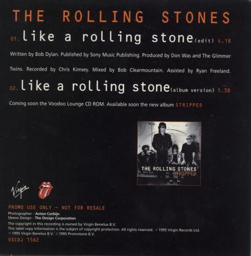 "Rolling Stones Like A Rolling Stone - Japanese promo stickered CD single (CD5 / 5"") UK ROLC5LI664087"