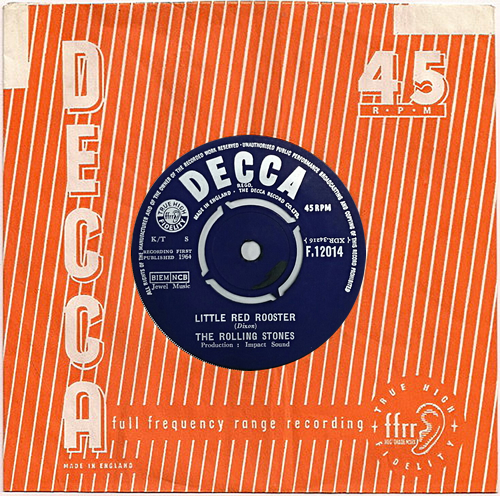 "Rolling Stones Little Red Rooster - 1st - B 7"" vinyl single (7 inch record) UK ROL07LI565827"