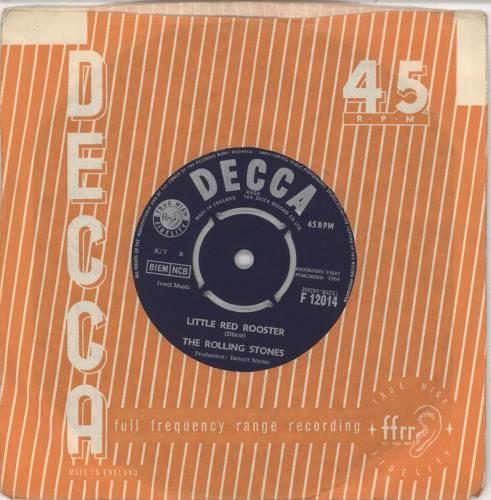"""Rolling Stones Little Red Rooster - 2nd [b] 7"""" vinyl single (7 inch record) UK ROL07LI741301"""