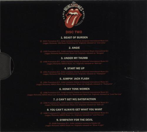 Rolling Stones Live - The Rolling Stones Fifty Years - Sealed 2 CD album set (Double CD) Canadian ROL2CLI678521