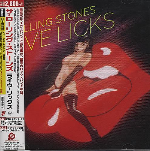 Rolling Stones Live Licks 2 CD album set (Double CD) Japanese ROL2CLI368129