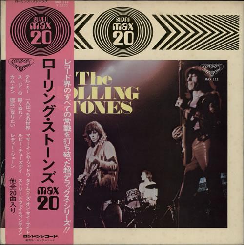 Rolling Stones Max 20 vinyl LP album (LP record) Japanese ROLLPMA123797