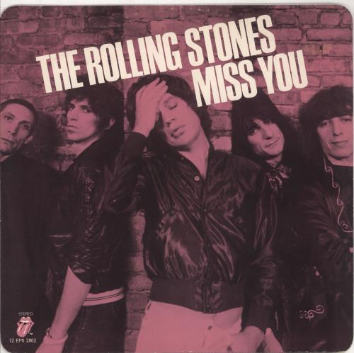 "Rolling Stones Miss You - Pink Vinyl 12"" vinyl single (12 inch record / Maxi-single) UK ROL12MI313096"