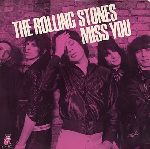 "Rolling Stones Miss You - Pink Vinyl 12"" vinyl single (12 inch record / Maxi-single) Dutch ROL12MI365741"