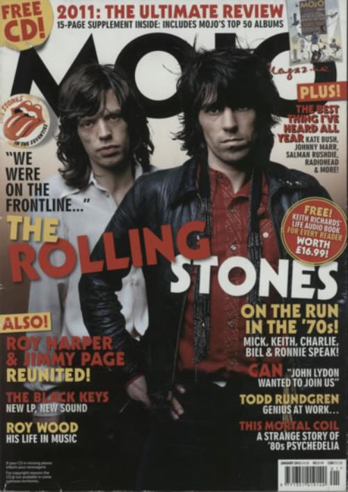Rolling Stones Mojo - January 2012 magazine UK ROLMAMO617553
