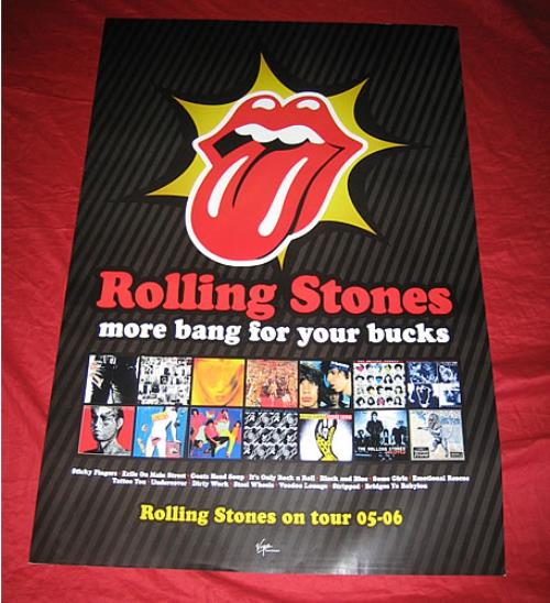 Rolling Stones More Bang For Your Bucks poster UK ROLPOMO340519