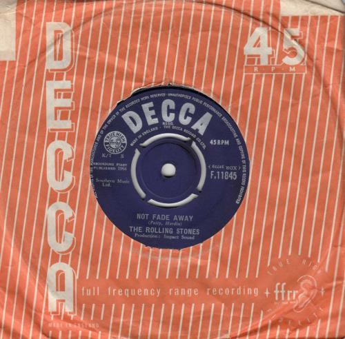 "Rolling Stones Not Fade Away - 1st[b] - EX 7"" vinyl single (7 inch record) UK ROL07NO565943"
