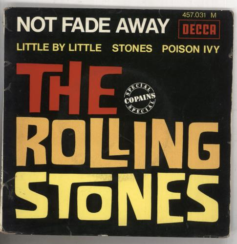 "Rolling Stones Not Fade Away E.P. - Lozenge 7"" vinyl single (7 inch record) French ROL07NO93601"