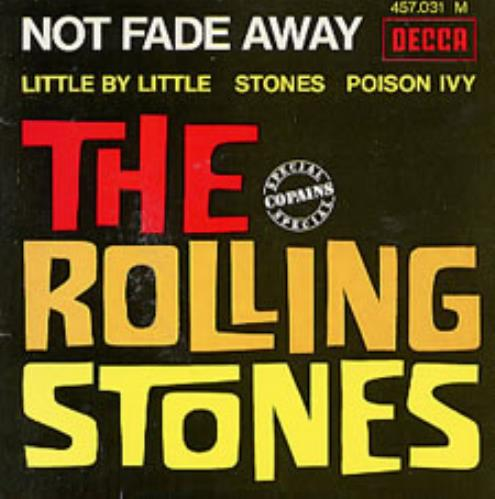 "Rolling Stones Not Fade Away 7"" vinyl single (7 inch record) French ROL07NO215128"