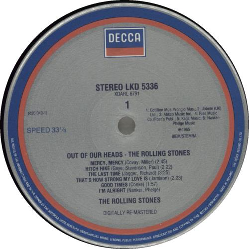 Rolling Stones Out Of Our Heads Digitally Remastered