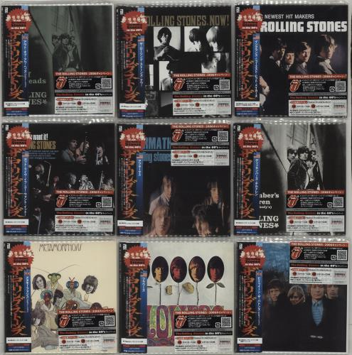 Rolling Stones Paper Sleeve Collection - Nine Albums CD album (CDLP) Japanese ROLCDPA662251