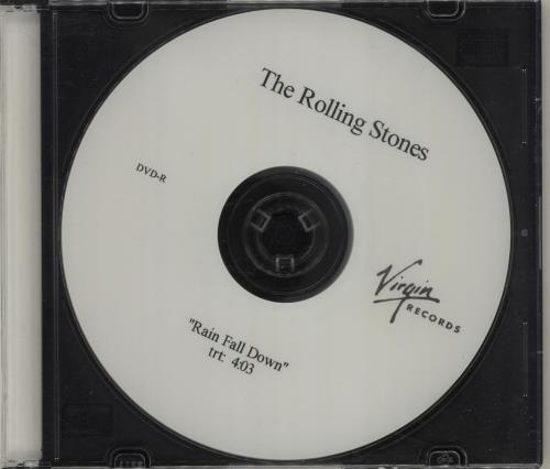 Rolling Stones Rain Fall Down promo DVD-R US ROLDRRA383722