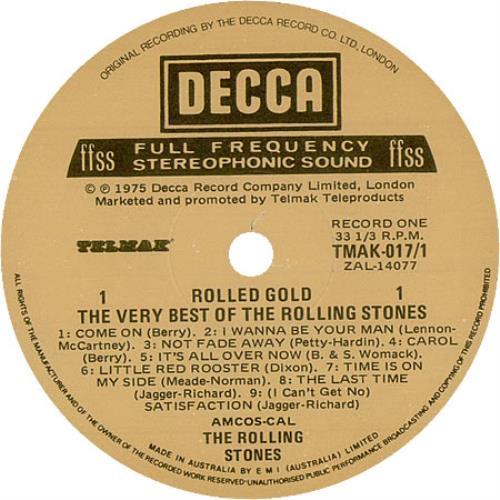 Rolling Stones Rolled Gold Australian 2 Lp Vinyl Record