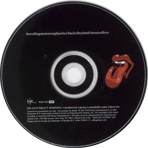 """Rolling Stones Rough Justice CD single (CD5 / 5"""") US ROLC5RO737155"""