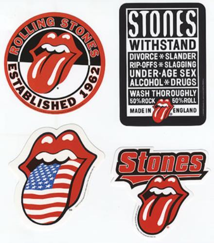 Rolling Stones Set Of Five Official Stickers memorabilia UK ROLMMSE357386