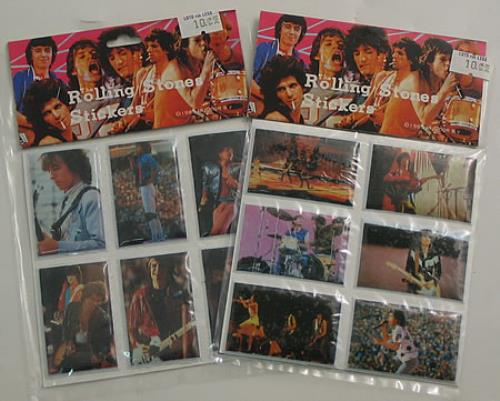 Rolling Stones Set Of Two Sticker Packs memorabilia Taiwanese ROLMMSE409555