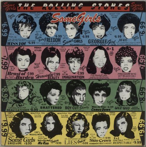 Rolling Stones Some Girls - b/p/g/y - Uncensored vinyl LP album (LP record) Italian ROLLPSO674736