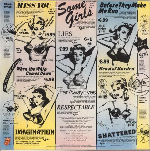 Rolling Stones Some Girls - Censored vinyl LP album (LP record) Swedish ROLLPSO735924