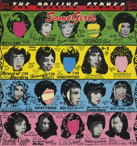 Rolling Stones Some Girls - G/Y/B/P vinyl LP album (LP record) Italian ROLLPSO264193